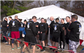 Members of the Newington Police Department waiting to take the polar plunge