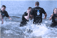 Members of the Newington Police Department in the water