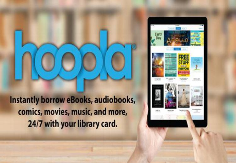 Hoopla- download digital  movies, music, eBooks, comics, audiobooks & more