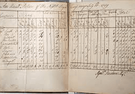 entry from the Myndert Roseboom ledger