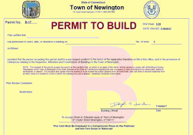 Building Permit with color