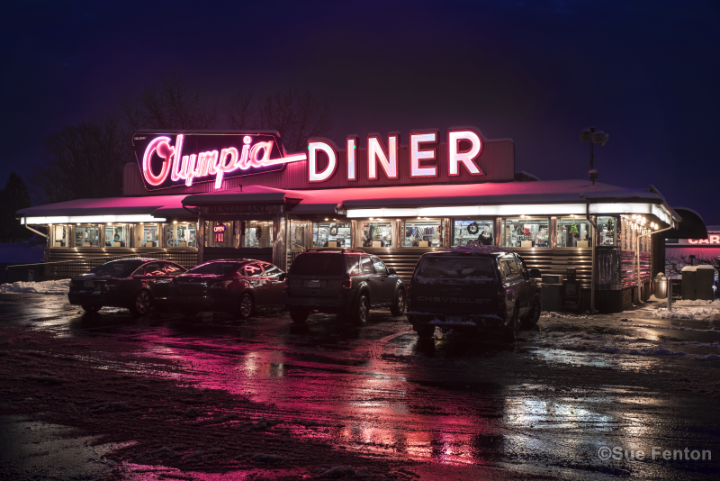 Neon sign for Olympic Diner