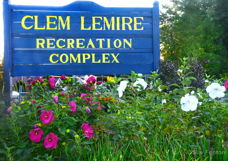 Sign located at Clem Lemire Recreational complex