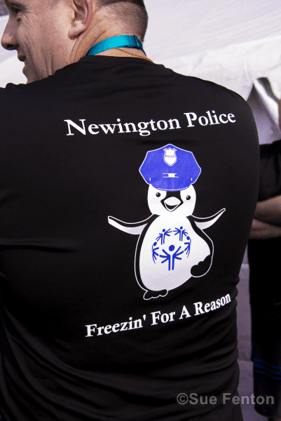 Back of T-Shirt worn at Polar Plunge event