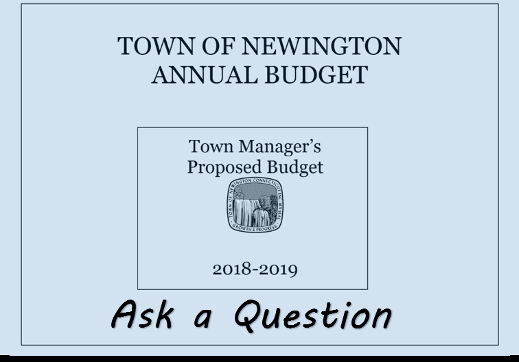 Cover page for 2018-2019 Proposed Budget with Town Seal