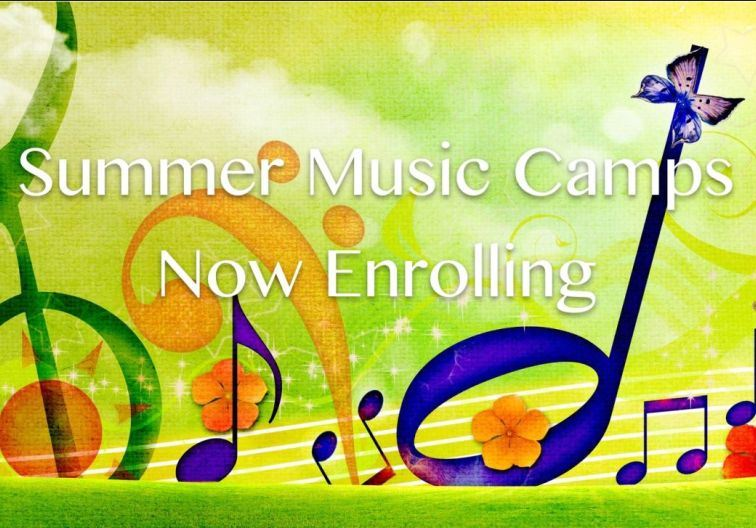 Summer Music camps now enrolling with spring flowers and instruments