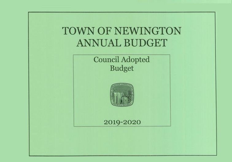 Blue Cover of Town Council Adopted Budget report