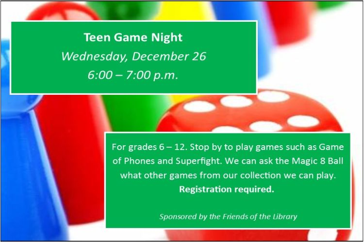 Teen December game night
