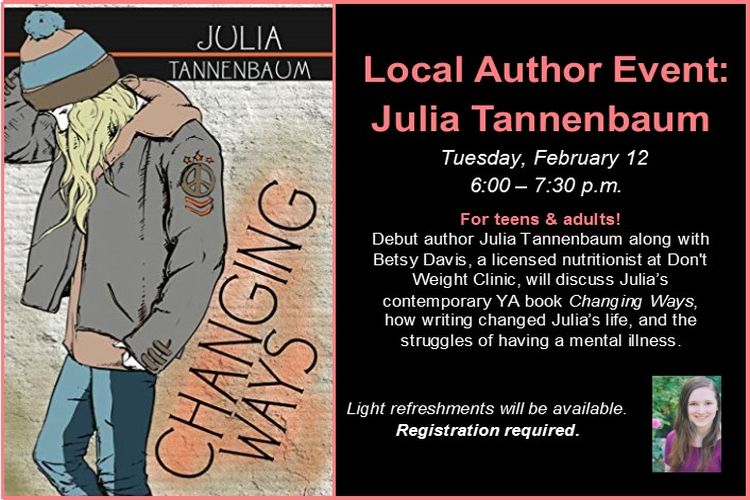 teen local author event with julia tannenbaum