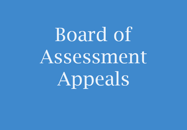 Blue box saying Board of Assessment Appeals