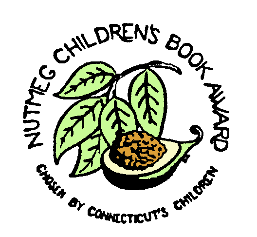 nutmeg book award seal with nutmeg pod