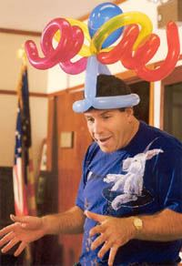 Ed P with balloon hat