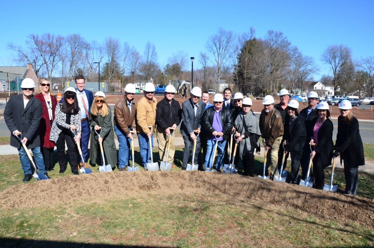 Photo of Individuals at Ground Breaking Ceremony
