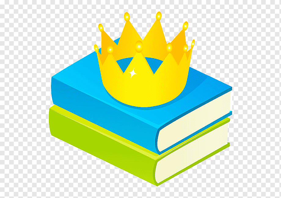 Winter Reading crown on books