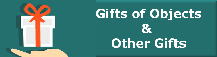 gifts of objects banner bev